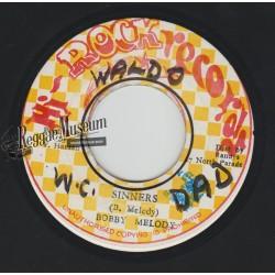 "Bobby Melody - Sinners - Hi Rock Records 7"""