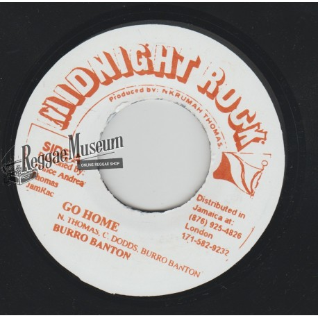 Burro Banton - Go Home - Midnight Rock 7""
