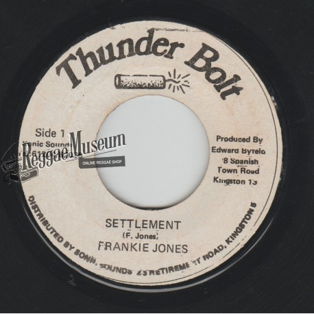 Frankie Jones - Settlement - Volcano 7""
