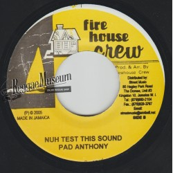 Pad Anthony - Nuh Test This Sound - Firehouse Crew 7""