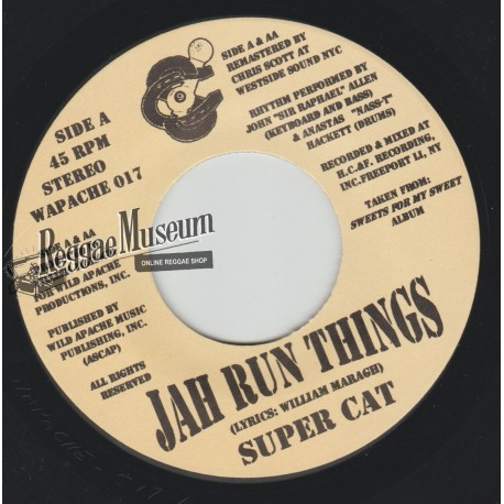 Super Cat - Jah Run Things - Wild Apache 7""