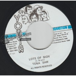 Tenor Saw - Lots Of Sign - Youth Promotion 7""