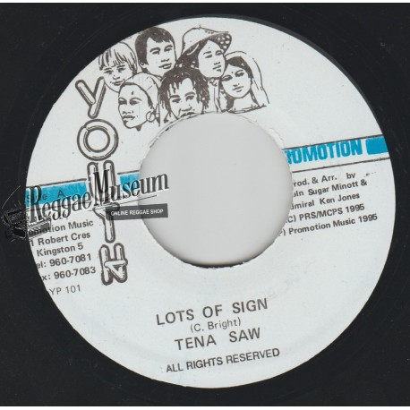 """Tenor Saw - Lots Of Sign - Youth Promotion 7"""""""