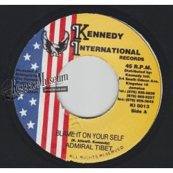 Admiral Tibet - Blame It On Your Self - Kennedy 7""""