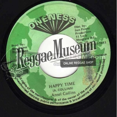 """Ansel Collins - Happy Time - Oneness 7"""""""