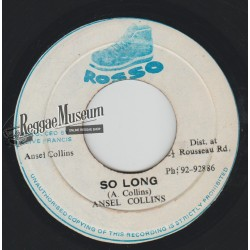 Ansel Collins - So Long - Rosso 7""