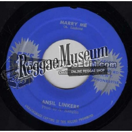Ansil Linkers - Marry Me - GG 7""