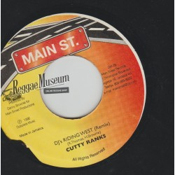 "Cutty Ranks - DJs Riding West (Remix) - Main St 7"""