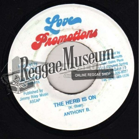 Anthony B - The Herb Is On - Love Promotions 7""